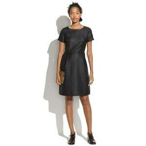 Madewell Brocade Fitted Black Dress HO 13